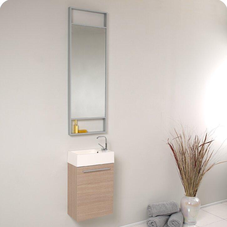 """16 Bathroom Vanity fresca senza 16"""" single bathroom vanity set with mirror & reviews"""