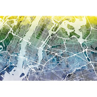 color gradient urban street map series new york city new york usa i graphic art on wrapped canvas