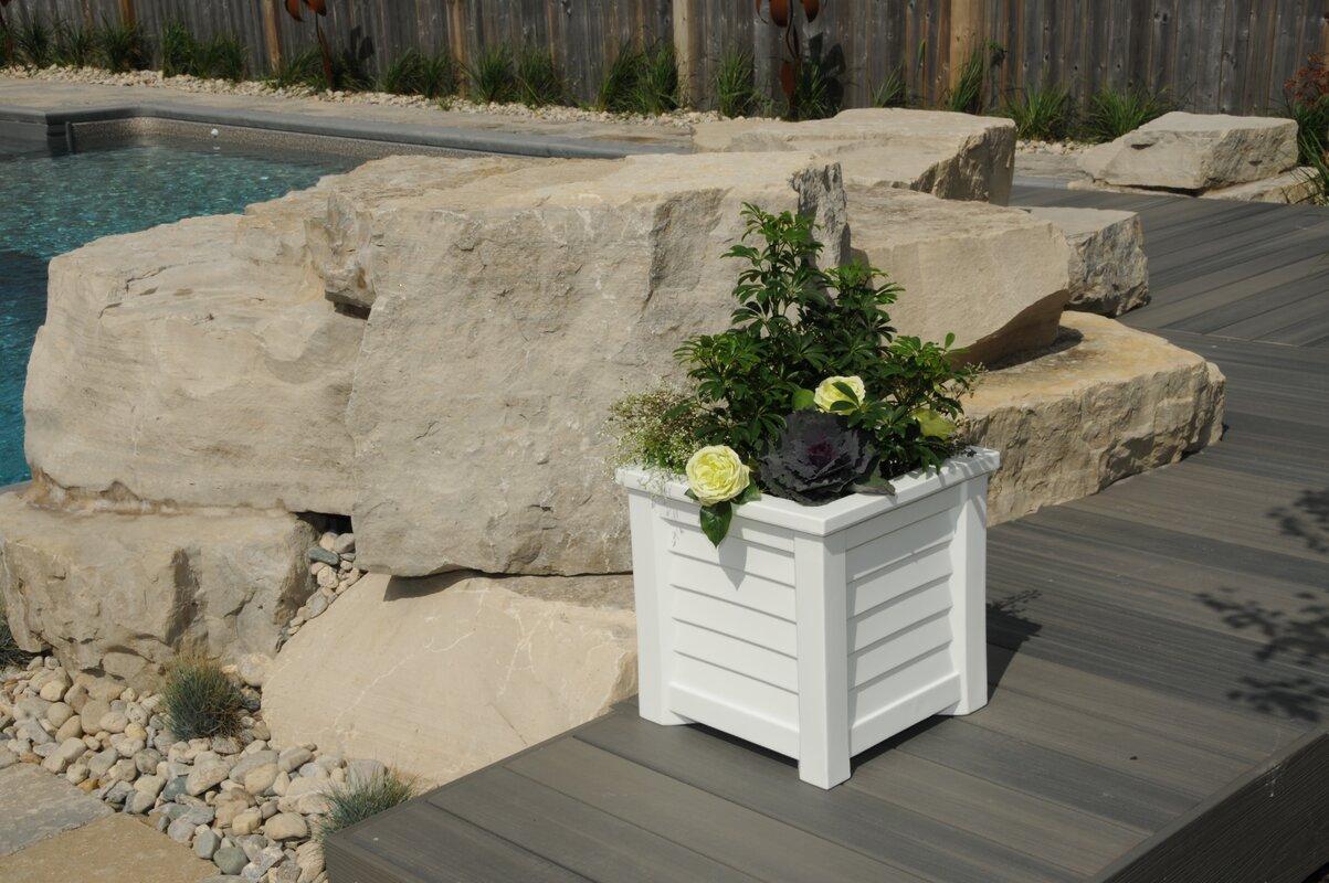 mayne inc lakeland self watering plastic planter box u0026 reviews