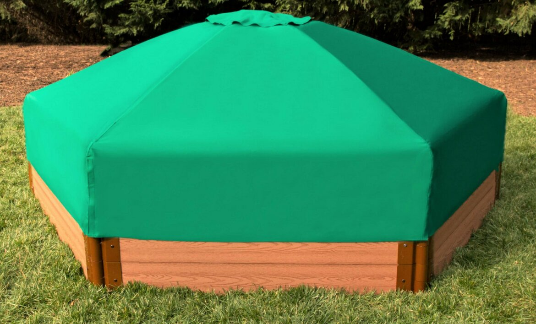8u0027 Hexagonal Sandbox with Canopy/Cover & Frame It All 8u0027 Hexagonal Sandbox with Canopy/Cover u0026 Reviews ...