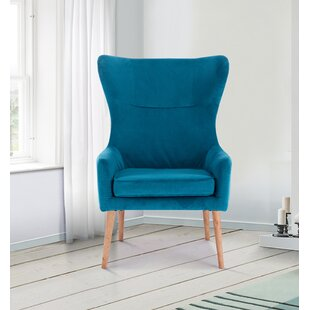 blue wingback chair. Daphne Wingback Chair Blue