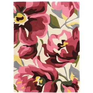 West Wick Hand-Tufted Pink/Beige Area Rug