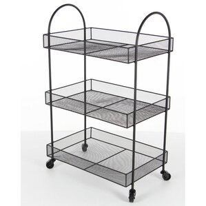 Quitman Metal Basket Bar Cart by Latit..