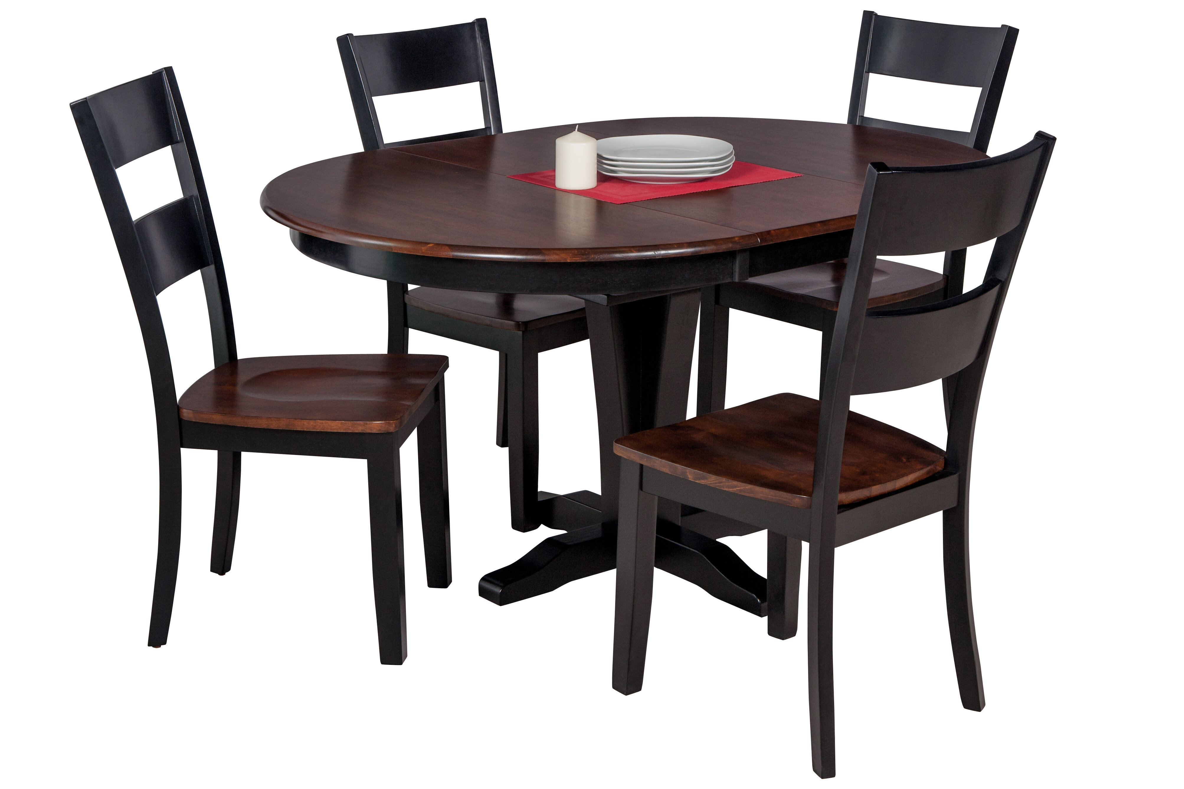 Darby Home Co Maryrose 5 Piece Solid Wood Dining Set With Butterfly Leaf Table