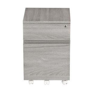 Carreiro Rolling 2 Drawer Vertical Filing Cabinet