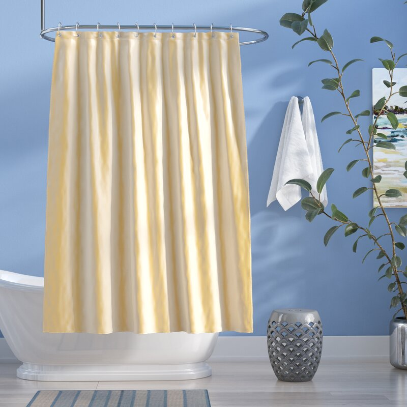 Easton Shimmer Faux Silk Shower Curtain