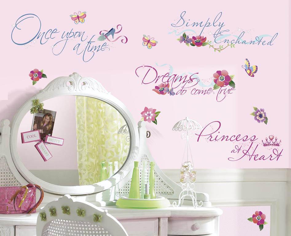 wallhogs disney princess quotes cutout wall decal | wayfair