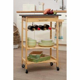 Wybron Kitchen Trolley With Granite Top