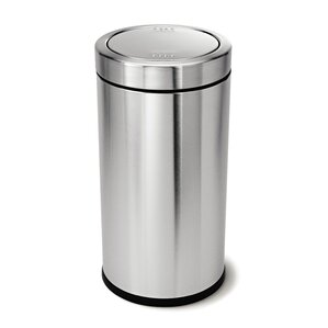 Stainless Steel 14 5 Gallon Swing Top Trash Can Modern Cans Wastebaskets  AllModern.