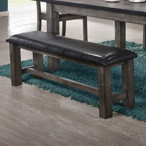 Calliope Faux Leather Bench by Loon Peak