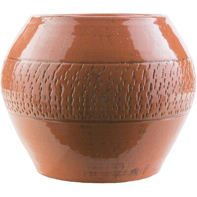 Brayden Studio Mchale Ceramic Pot Planter Color: Rust
