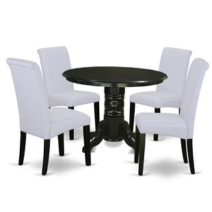 Aleana Small Table 5 Piece Solid Wood Dining Set