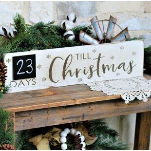 Christmas Wood Signs.Christmas Wooden Sign Wayfair