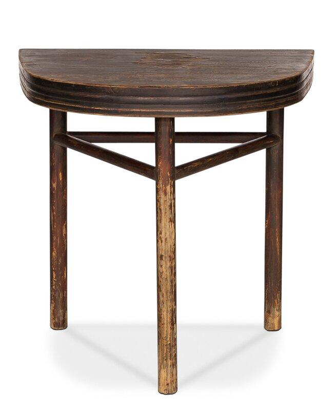 semi circle wall end table reviews perigold. Black Bedroom Furniture Sets. Home Design Ideas