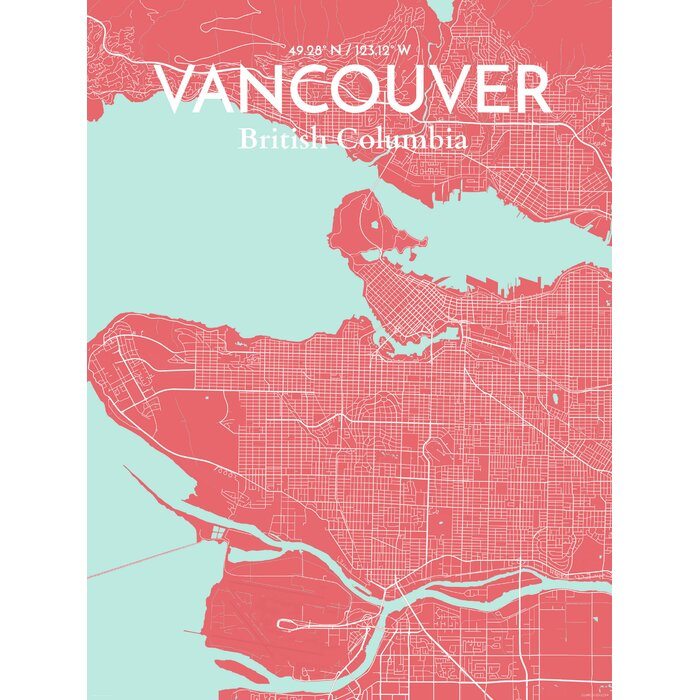 Ourposter vancouver city map graphic art print poster in vancouver city map graphic art print poster in maritime gumiabroncs Choice Image