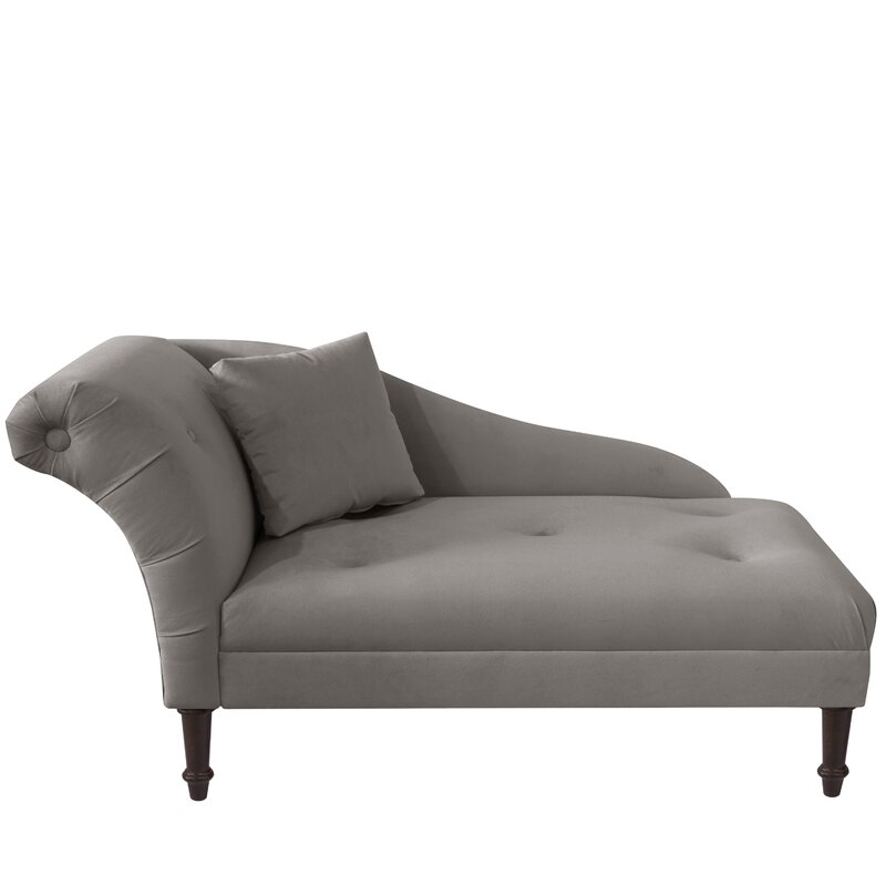 Elspeth Velvet Chaise  sc 1 st  Joss u0026 Main : chaise furniture - Sectionals, Sofas & Couches
