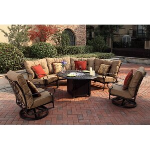 Lanesville 7 Piece Fire Pit Seating Group With Cushions