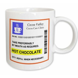 c44f8de1e7c7 Hot Chocolate Prescription Humorous Prescribed Coffee Mug. by 3dRose