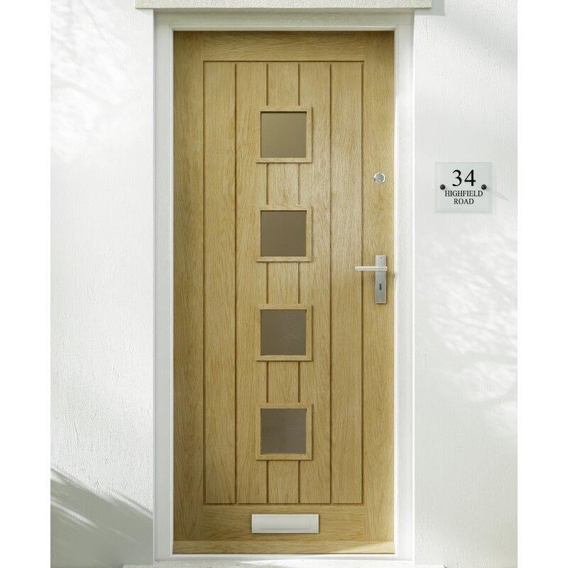 Premdor Croft Wood 4 Panel Glazed External Door Wayfair