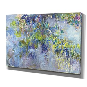 'Wisteria Claude Monet' Print of Painting on Wrapped Canvas