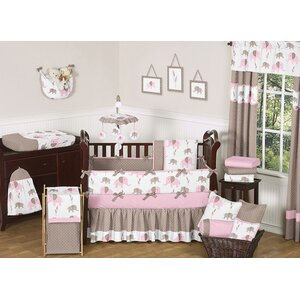 Elephant 9 Piece Crib Bedding Set