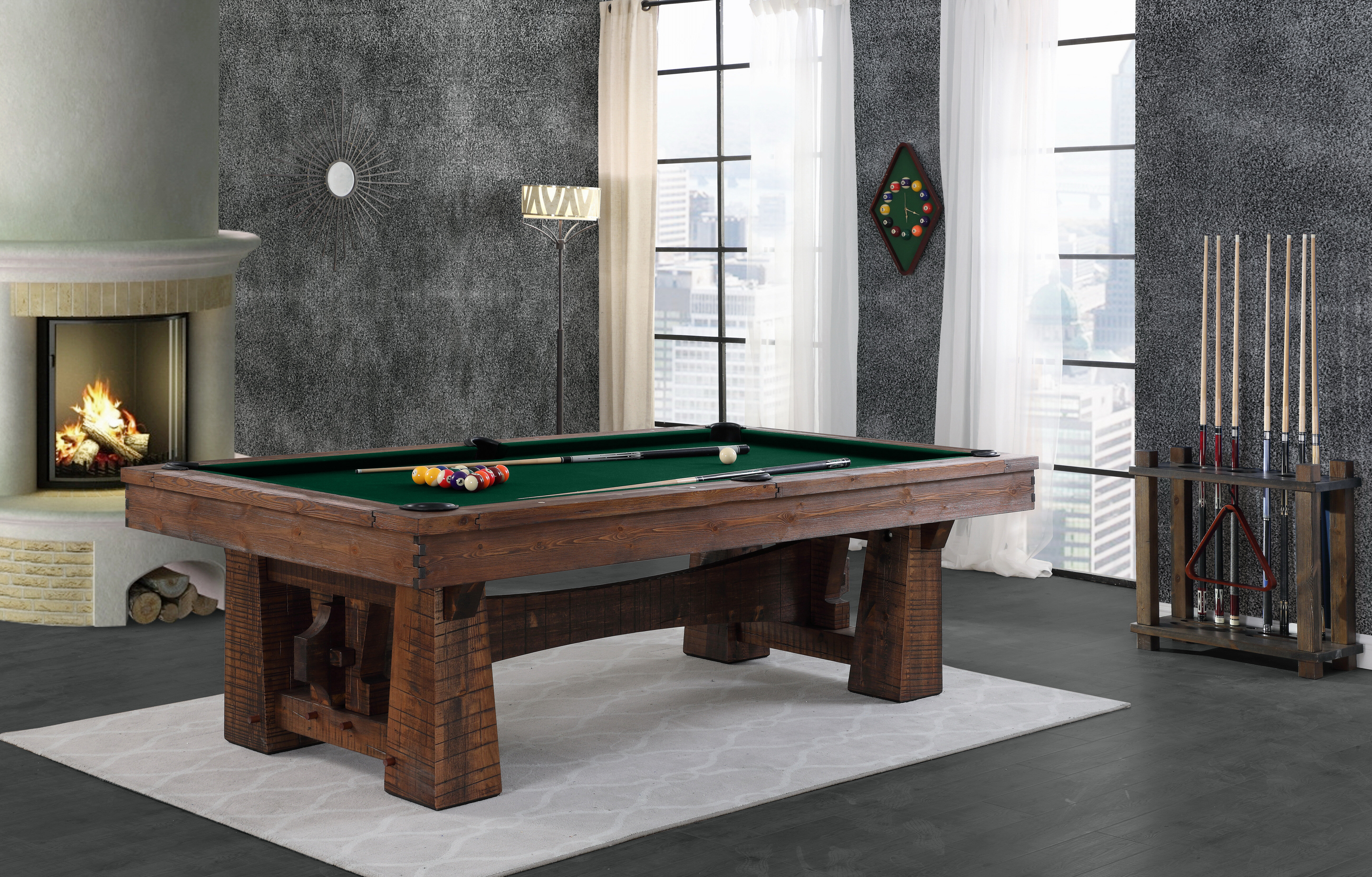 Super Bull Run 8 Slate Pool Table Beutiful Home Inspiration Xortanetmahrainfo