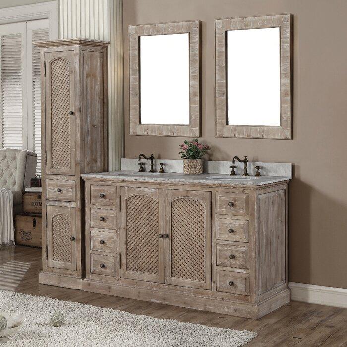 Laurel Foundry Modern Farmhouse Clemmie 61 Double Bathroom Vanity