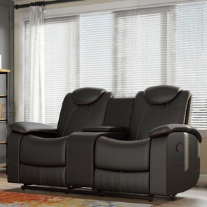 Erik Double Glider Reclining Loveseat by Lat..