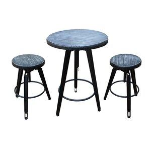 Dibble 3 Piece Adjustable Pub Table Set