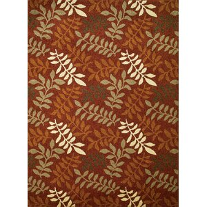 Chester Red Leafs Area Rug