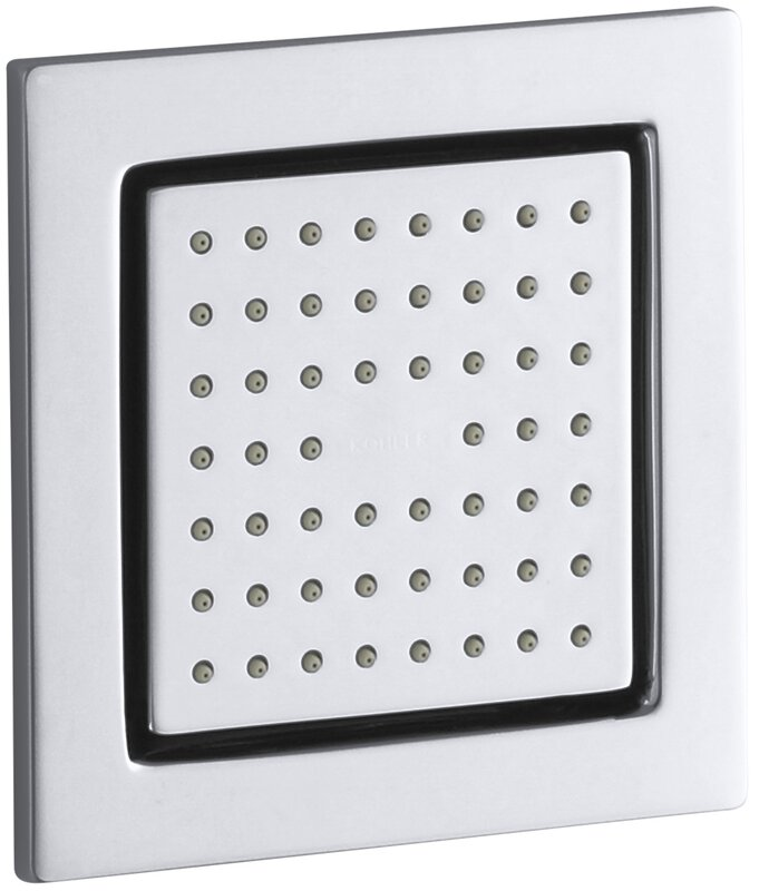 Kohler WaterTile Square Adjustable Shower Head Body Spray ...