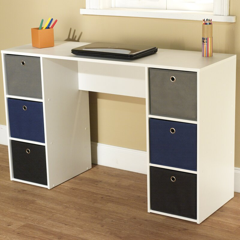 TMS 6 Drawers Computer Desk & Reviews | Wayfair