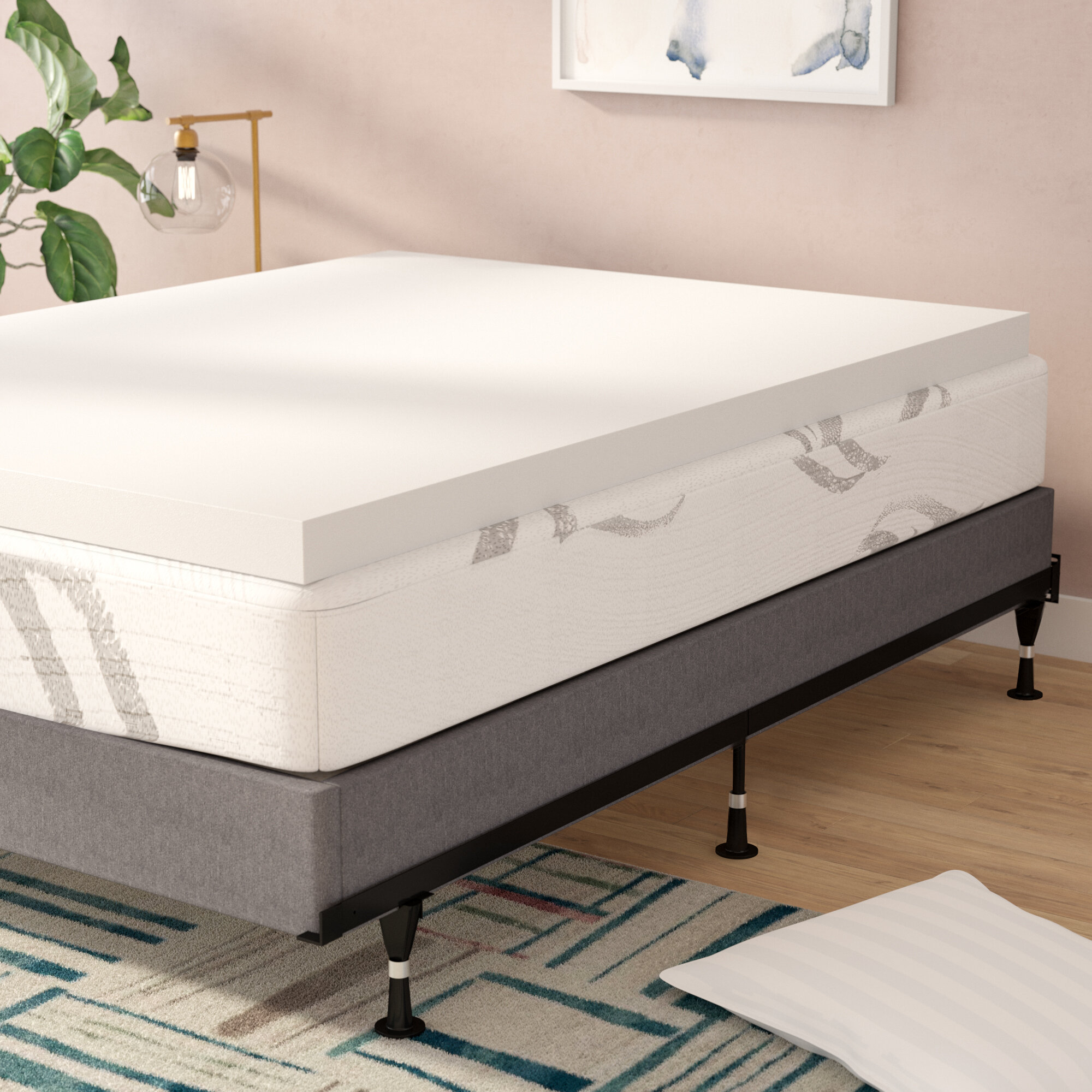 inch itm details cover mattress cm visco foam topper memory product deep pad therapy with