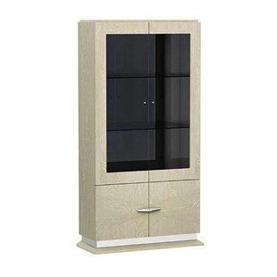 Sadye Wood and Glass China Cabinet