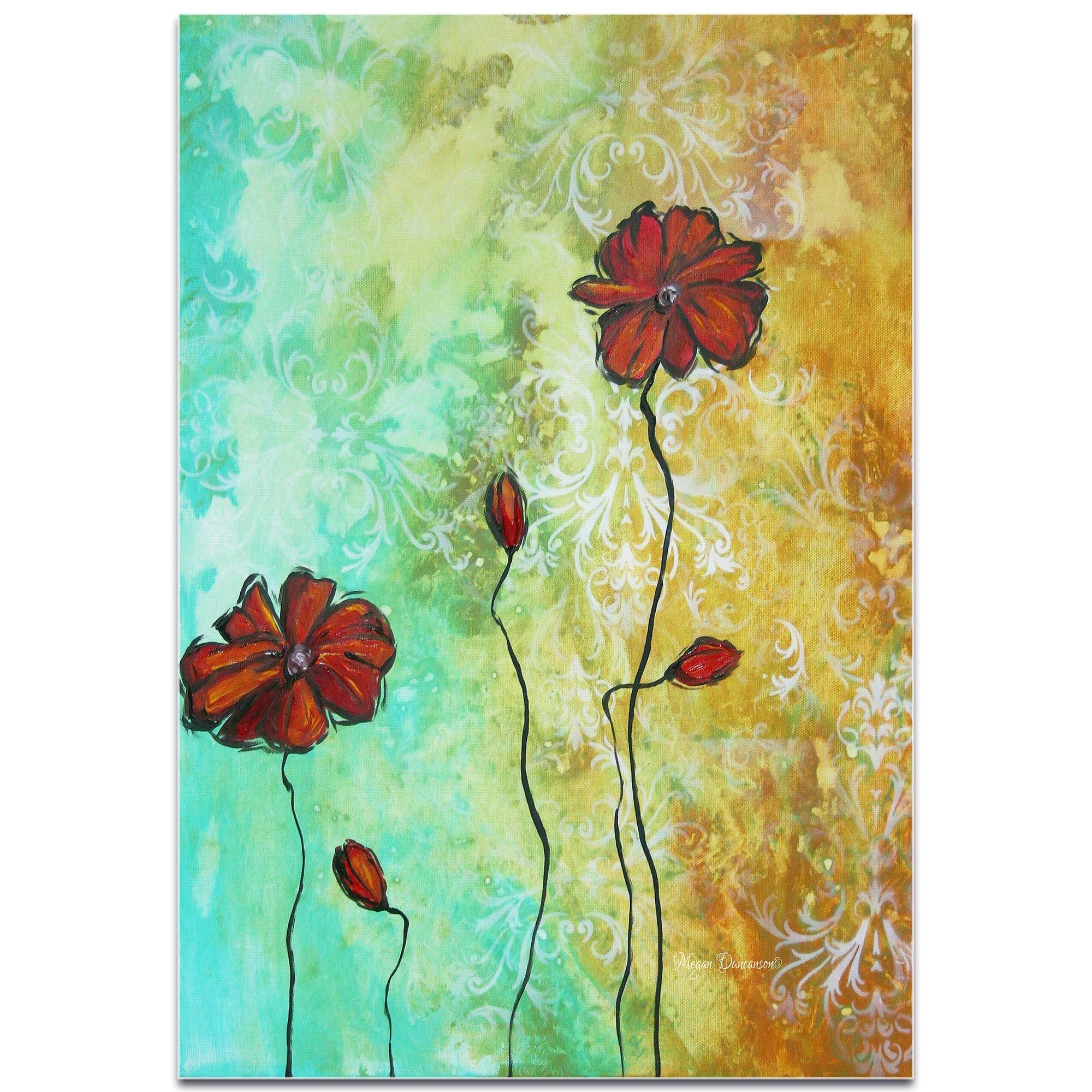 Metal Art Studio \'Poppy Love\' by Megan Duncanson High-Gloss Painting ...