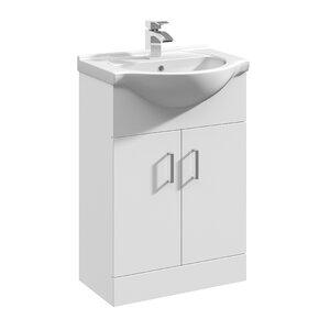 Bathroom Cabinets 55cm free-standing vanity units | wayfair.co.uk