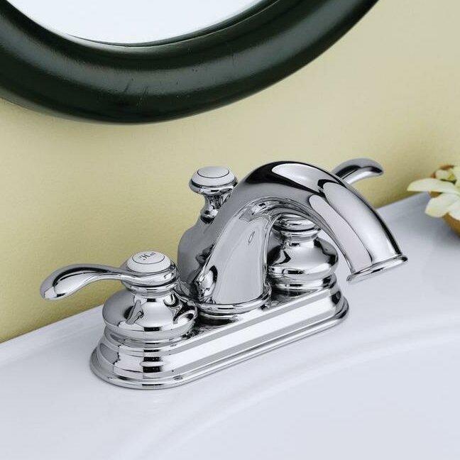 K-12266-4-2BZ,BN,CP Kohler Fairfax Centerset Bathroom Faucet with ...
