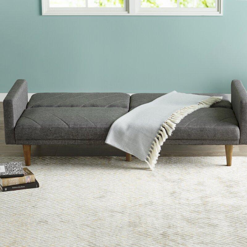Langley Street Heritage Convertible Sofa Amp Reviews Wayfair