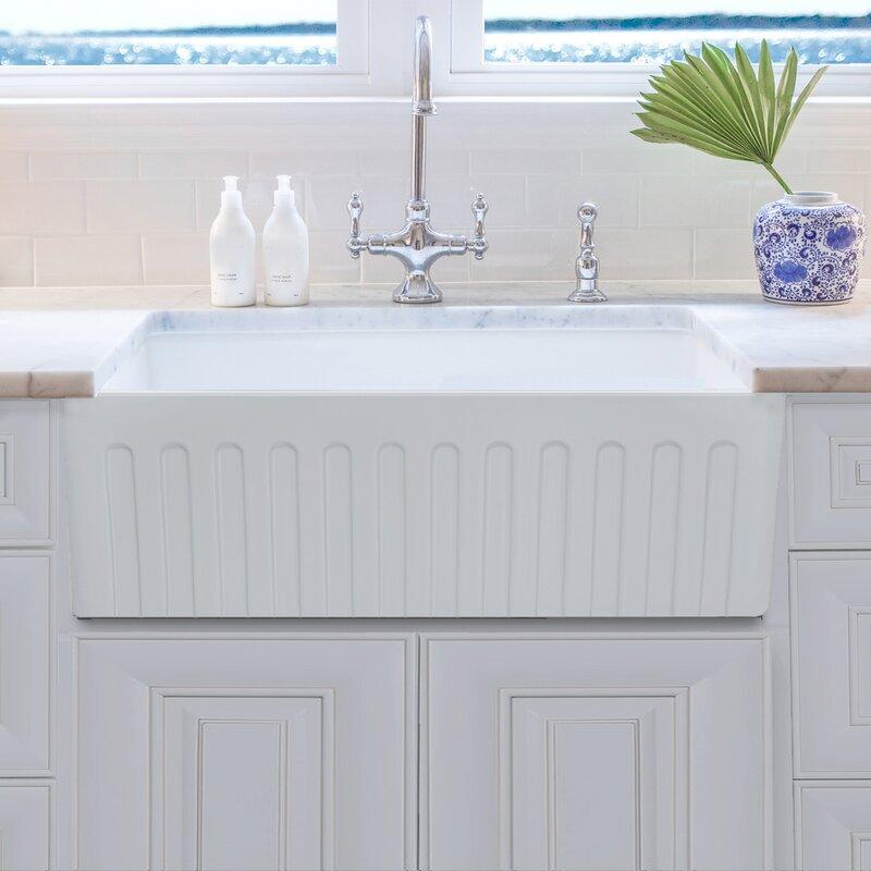 33   x 20   farmhouse kitchen sink     nantucket sinks 33   x 20   farmhouse kitchen sink with grid      rh   wayfair com