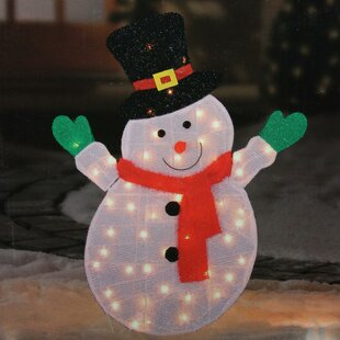 Outdoor Lighted Snowman Snowman decorations youll love wayfair lighted winter snowman with top hat outdoor christmas yard art decoration workwithnaturefo