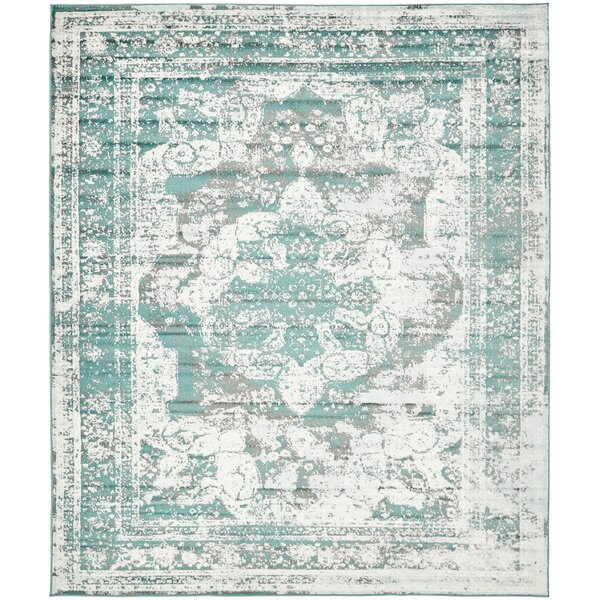 Florida Gray Turquoise Area Rug: Mistana Brandt Turquoise Area Rug & Reviews