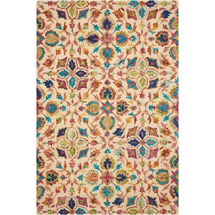 Zosia Hand Tufted Wool Ivory Area Rug