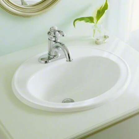 Peachy Pennington Ceramic Oval Drop In Bathroom Sink With Overflow Home Interior And Landscaping Palasignezvosmurscom