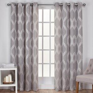 Montrose Geometric Blackout Grommet Curtain Panels (Set Of 2) Part 33