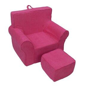 Fun Kids Club Chair and Ottoman by Fun Furnishings