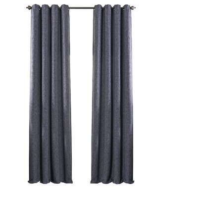 Beautyrest Arlette Solid Blackout Single Curtain Panel Color: Midnight, Size per Panel: 52 W x 84 L