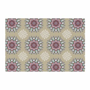 Nika Martinez Princess Abstract Pink Area Rug