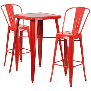 Suruga 3 Piece Pub Table Set