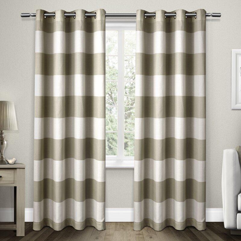 Santa Monica Striped Grommet Curtain Panels