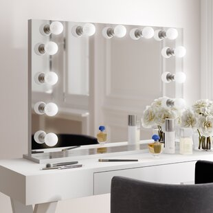 Vanity Mirror With Lights.Lighted Makeup Shaving Mirrors You Ll Love In 2019 Wayfair